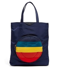 Anya Hindmarch Chubby Smiley Tote Bag Navy Multi