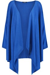 Dkny Draped Silk And Cashmere Blend Cardigan Blue