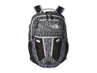 The North Face Women's Recon High Rise Grey Feather Leaf Print Tnf Black Backpack Bags Gray