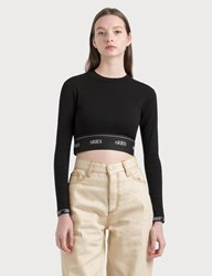 Aries Rib Crop Top Black