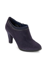 Anne Klein Dalayne Suede Booties Navy Blue
