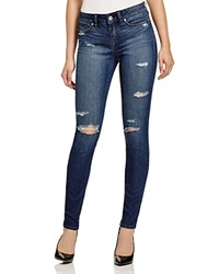 Yummie Tummie Yummie By Heather Thomson Skinny Jeans In Destroyed Indigo