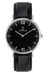 Kapten And Son Campina Leather Strap Watch 36Mm