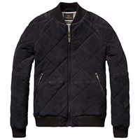 Scotch And Soda Suede Quilted Jacket Night