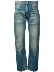 Junya Watanabe Relaxed Fit Denim Trousers Blue