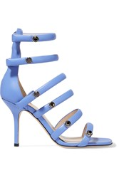 Christopher Kane Embellished Leather Sandals Blue