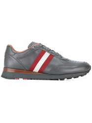 Bally Stripe Detail Sneakers Grey