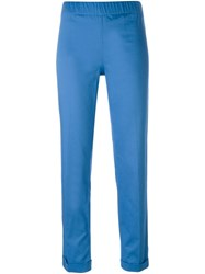 P.A.R.O.S.H. Slim Fit Trousers Blue