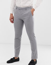 River Island Wedding Skinny Suit Trousers In Grey