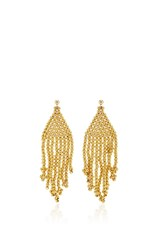Magdalena Frackowiak Jewelry Gypsy Beaded Earrings Gold
