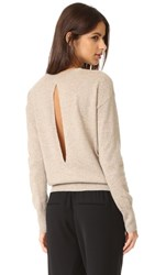 Vince Split Back Cashmere Sweater H Marzipan