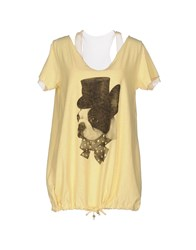 Scee By Twin Set T Shirts Yellow
