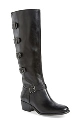 Arturo Chiang 'Beacon' Tall Buckle Boot Women Black Leather