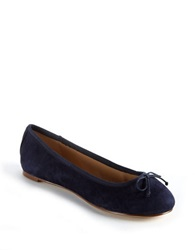 Lord And Taylor Dressen Leopard Print Calf Hair Flats Navy Suede