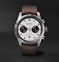 Bremont Alt1 C Automatic Chronograph 43Mm Stainless Steel And Leather Watch White