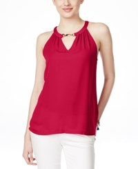 Inc International Concepts Embellished Halter Top Only At Macy's Real Red