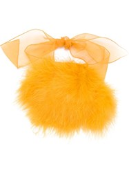 Sonia Rykiel Feather Down Bracelet Yellow And Orange
