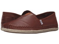Toms Leather Classics Cognac Full Grain Leather 2 Men's Slip On Shoes Brown