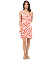 Lucky Brand Fireworks Dress Cover Up Tropical Punch Women's Swimwear Pink