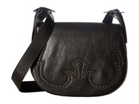 Just Cavalli Cow Leather With Holes Shoulder Bag Black Shoulder Handbags