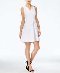 Armani Exchange Fit And Flare Dress White