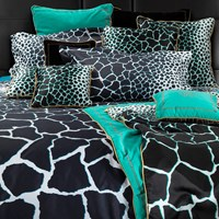 Roberto Cavalli Jerapah Duvet Set Super King Black