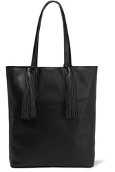 Loeffler Randall Cruise Tasseled Leather Tote Black