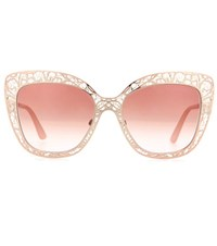 Dolce And Gabbana Metal Sunglasses Gold