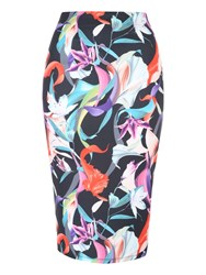 Jane Norman Pencil Co Ord Midi Skirt Multi Coloured