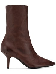 Yeezy Stretch Ankle Boots Brown