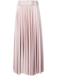 Co Long Pleated Skirt Pink And Purple