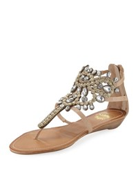 Premium Collection By Yellow Box P Araminta Embellished Wedge Sandal Neutral