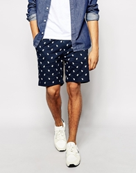 Penfield Shorts With Paisley Print Navy