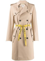 Zadig And Voltaire Mia Trench Coat Neutrals
