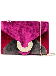 Just Cavalli Envelope Crossbody Bag Pink And Purple