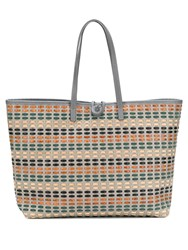 Carmina Campus Braided Basket Tote Grey