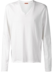Barena Long Sleeve V Neck T Shirt