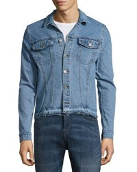 Cheap Monday Stable Denim Fringe Trim Jacket Blue