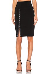 Norma Kamali Side Snap Skirt To Knee Black