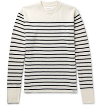 Norse Projects Verner Striped Virgin Wool Sweater Cream