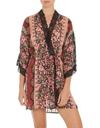 In Bloom Floral Lace Kimono Wrap Current