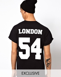Reclaimed Vintage London Baseball T Shirt Black