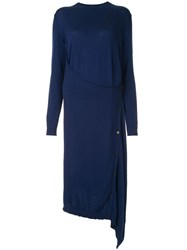Ports 1961 Knitted Wrap Tunic Blue