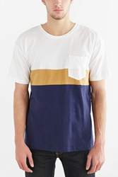 Vanishing Elephant Colorblocked Oversized Tee White