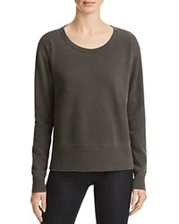 Wilt Raw Double Neck Sweatshirt Distressed Black