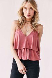 Kimchi And Blue Ellie Tiered Babydoll Tank Top Blush