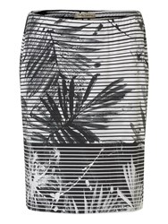 Betty Barclay Fern Print Skirt White