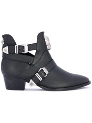 Philipp Plein Ankle Boots Women Leather 36 Black