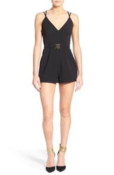 Women's Missguided Buckle Detail Strappy Romper