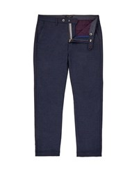 Ted Baker Men's Cropps Slim Fit Cropped Trousers Navy